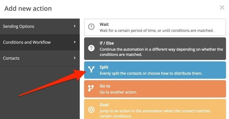 ActiveCampaign Automation Workflow Split Test