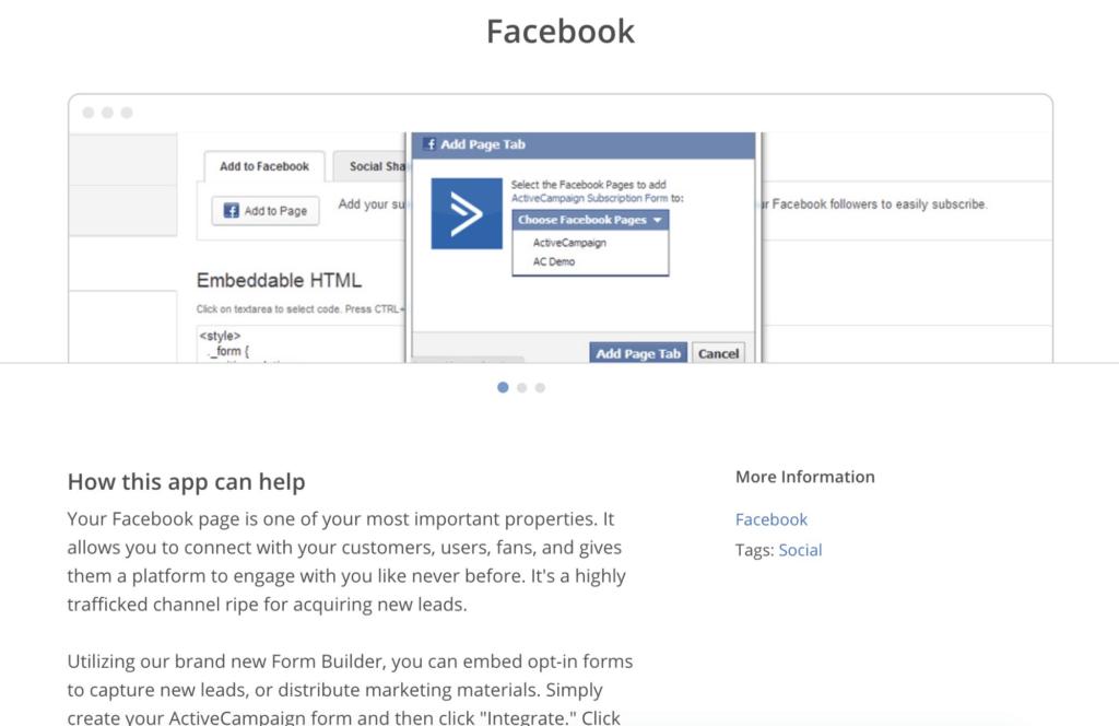 ActiveCampaign Facebook Integration