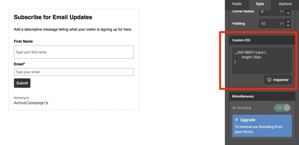 ActiveCampaign Form Builder Features