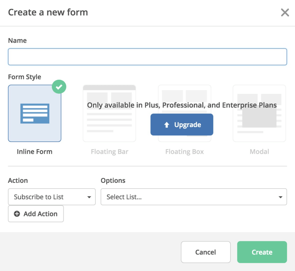 ActiveCampaign Inline Form Bulding