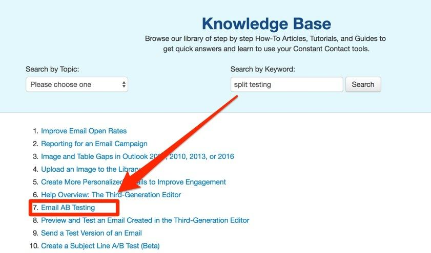 Constant Contact Knowledge Base Questions