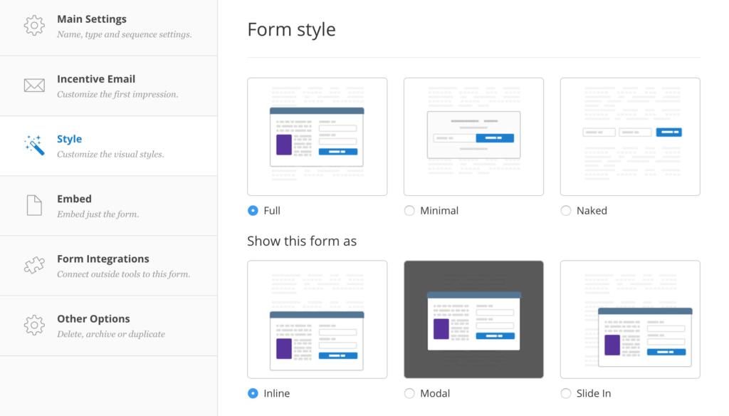 ConvertKit Form Builder Dashboard