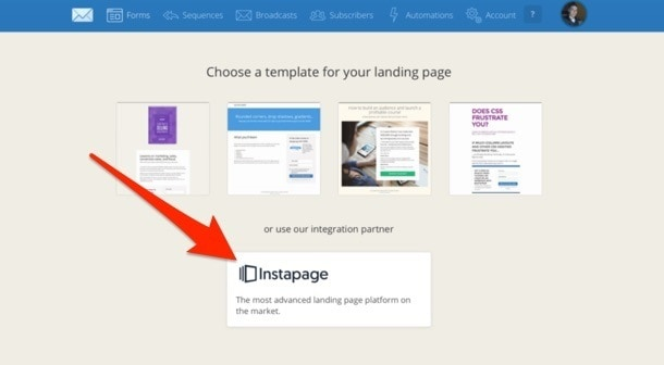ConvertKit Instapages Integration