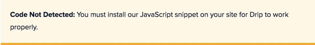 Drip JavaScript Snippet Code