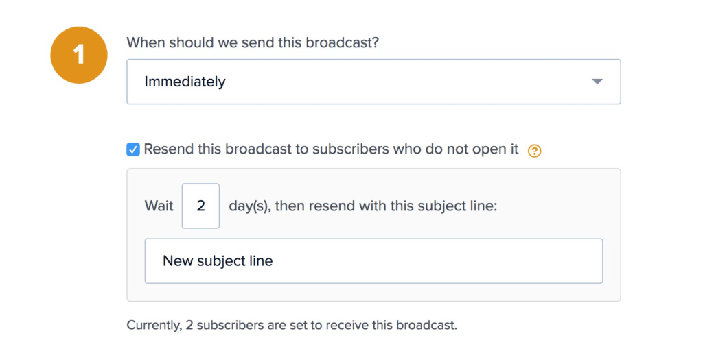 Drip Resend Broadcasts Option