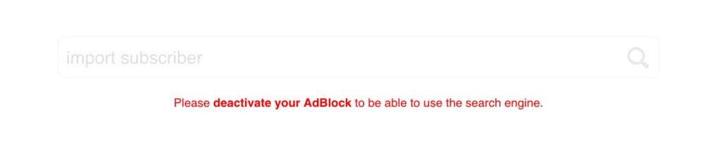 GetResponse AdBlock Deactivation