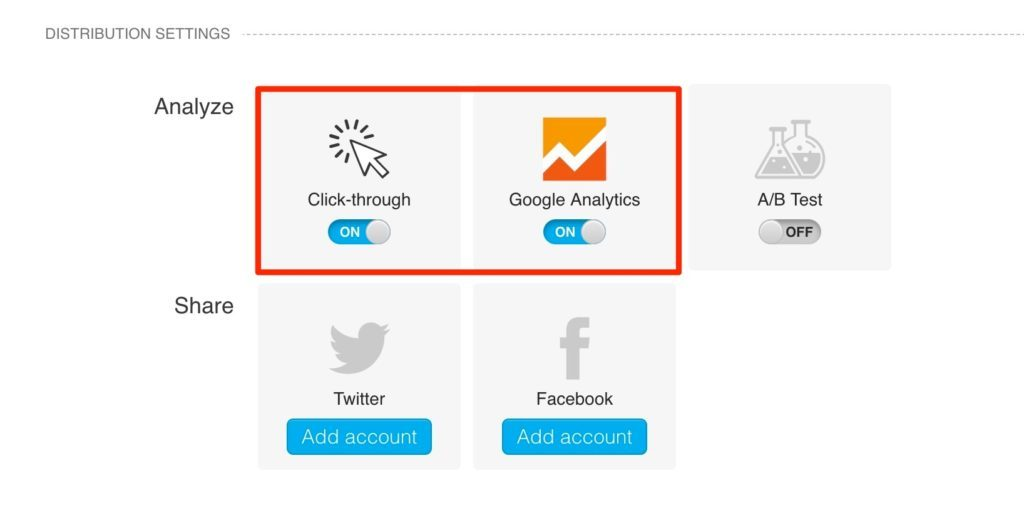 GetResponse Click Tracking and Google Analytics