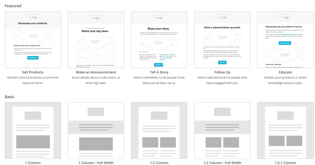 MailChimp Email Layouts