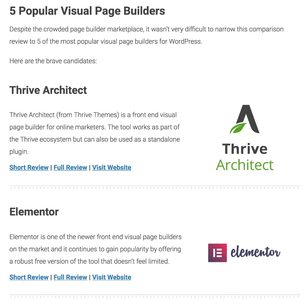Best Page Builders on WordPress