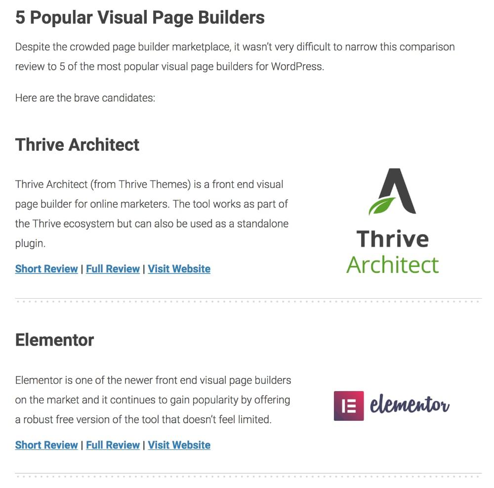 Best Page Builders on WordPress