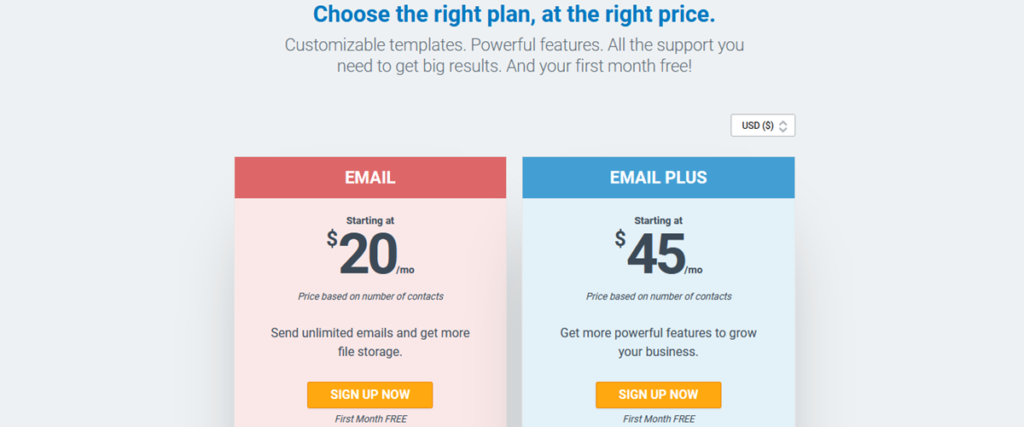Pricing Plans Constant Contact