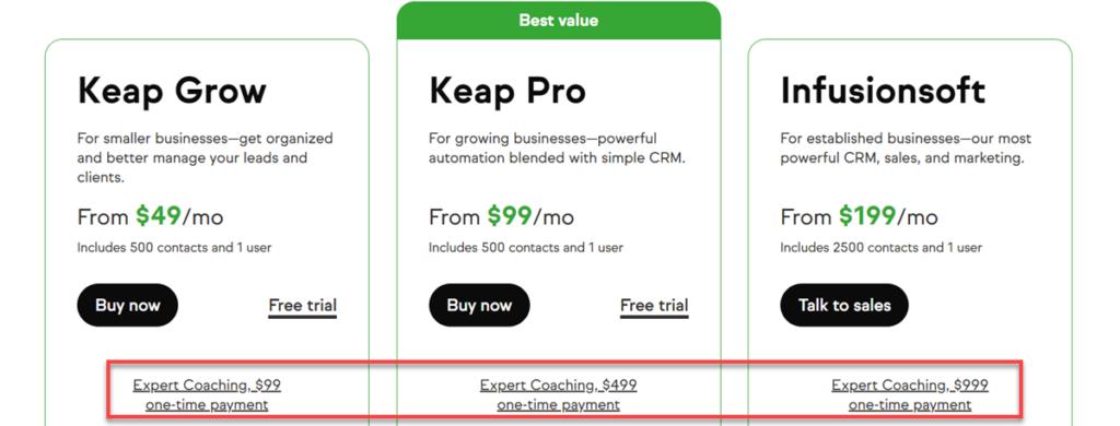 Pricing Plans Keap