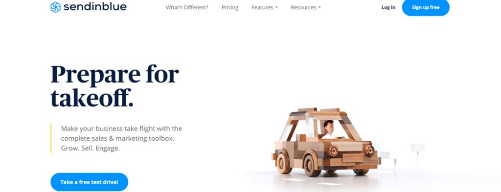 Sendinblue Homepage Screenshot