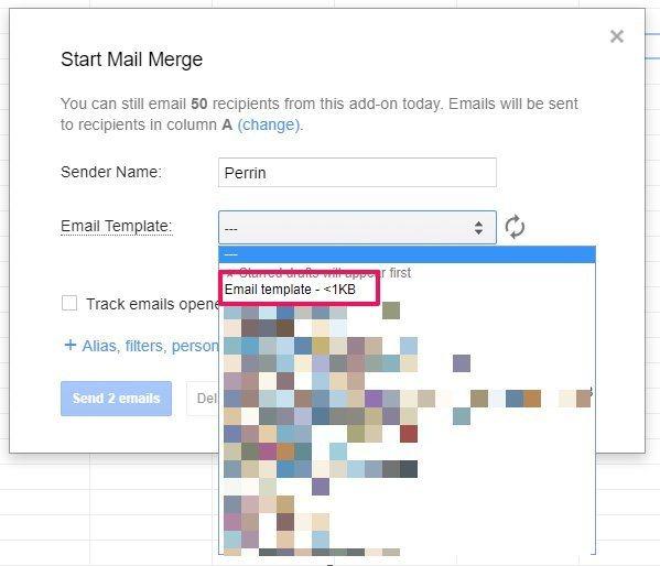 YAMM Start Mail Merge