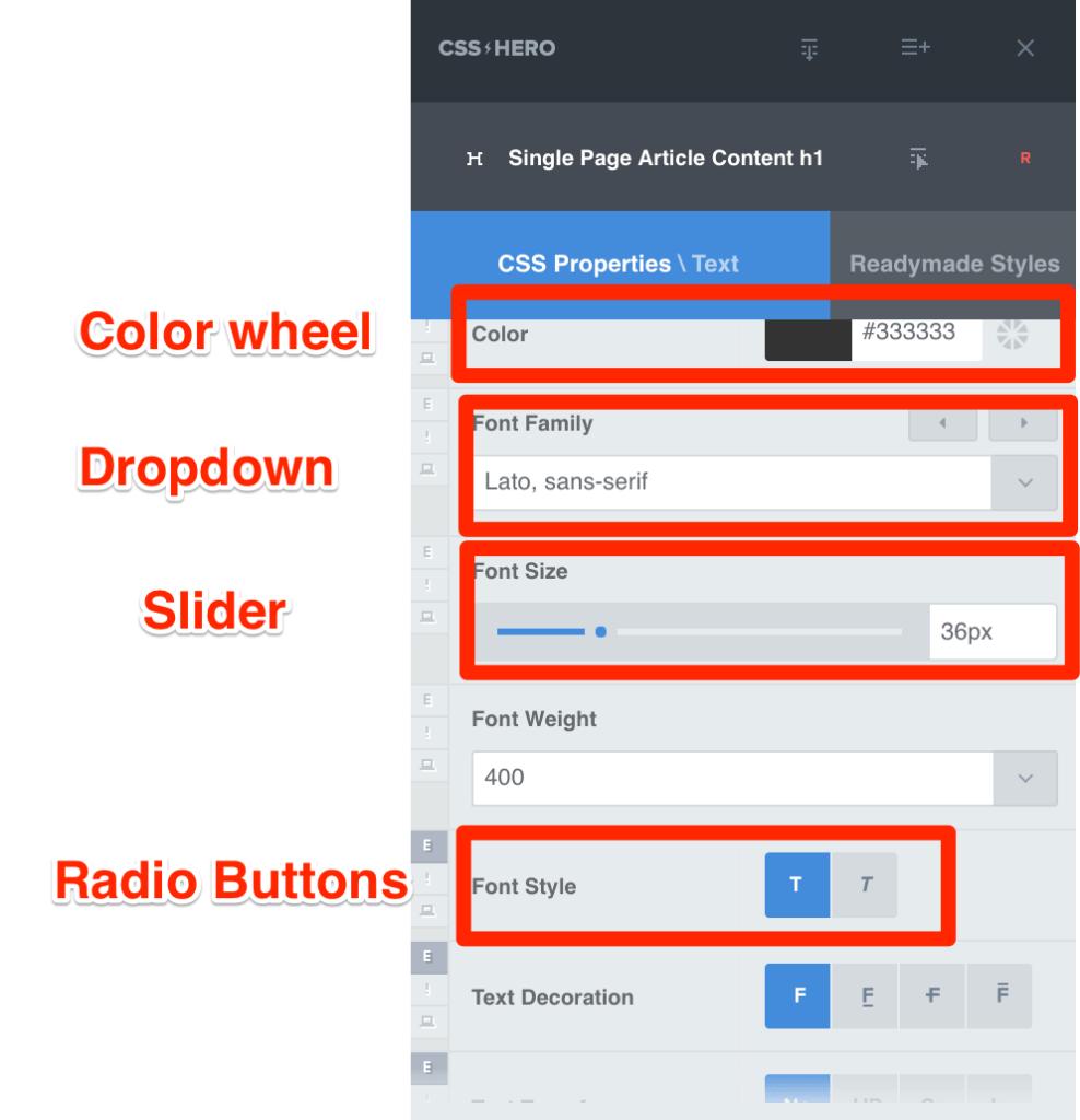 CSS Hero Options