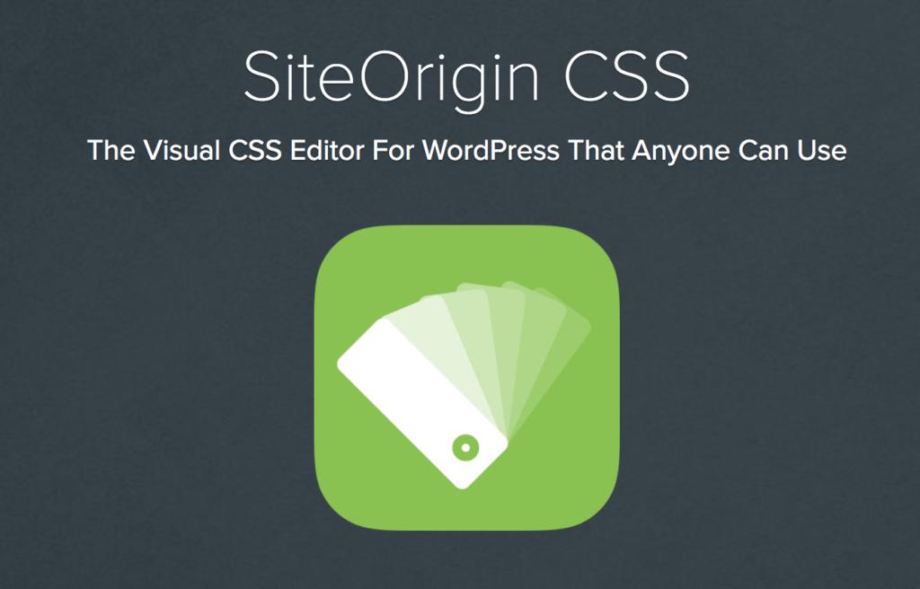 SiteOrigin CSS Plugin