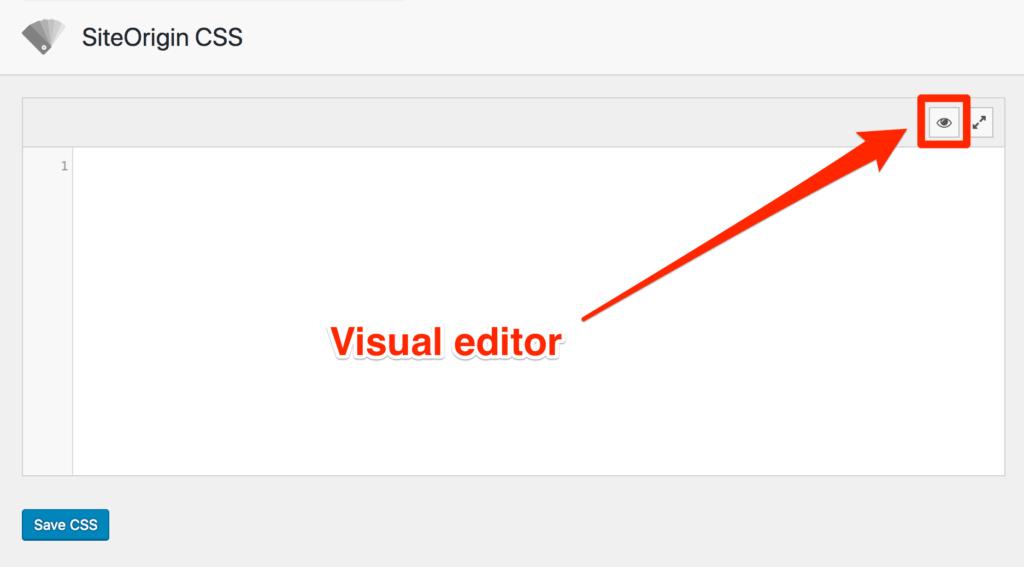 SiteOrigin CSS Visual Editor