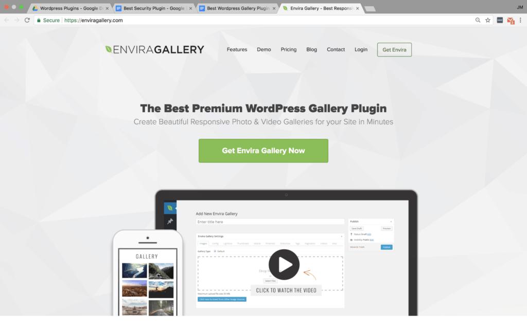 Envira Gallery WP Plugin