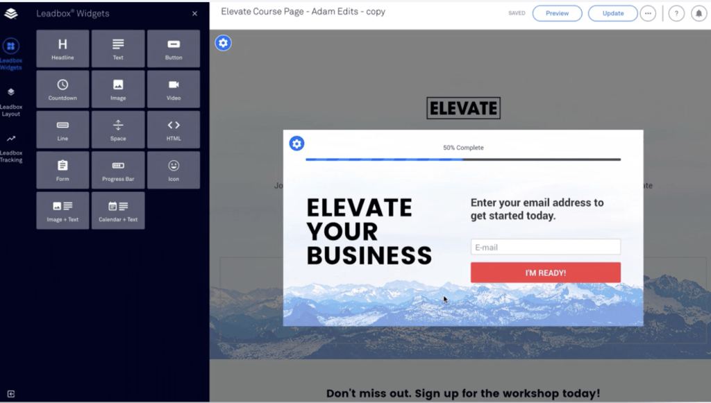 LeadPages Lightboxes