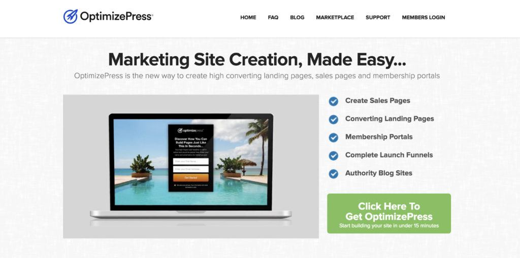 OptimizePress Landing Page Plugin