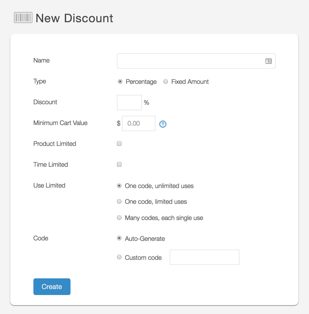Shopping Carts New Discount Offer