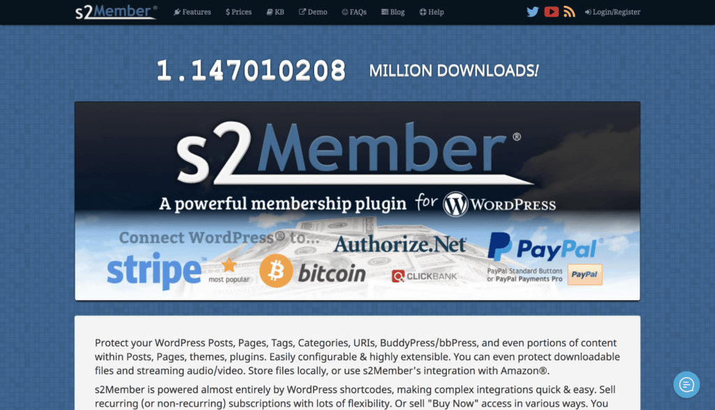 s2Member WP Plugin