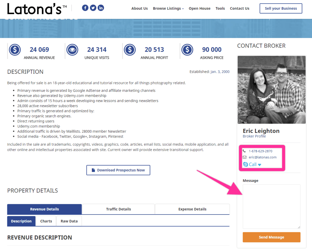Latona's website