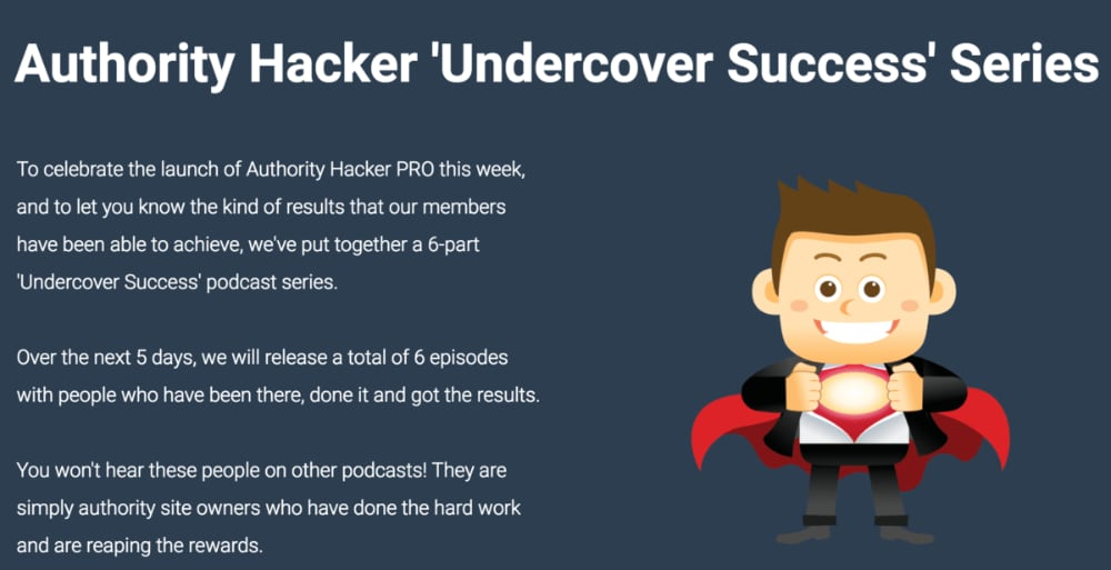 Undercover Success interview series