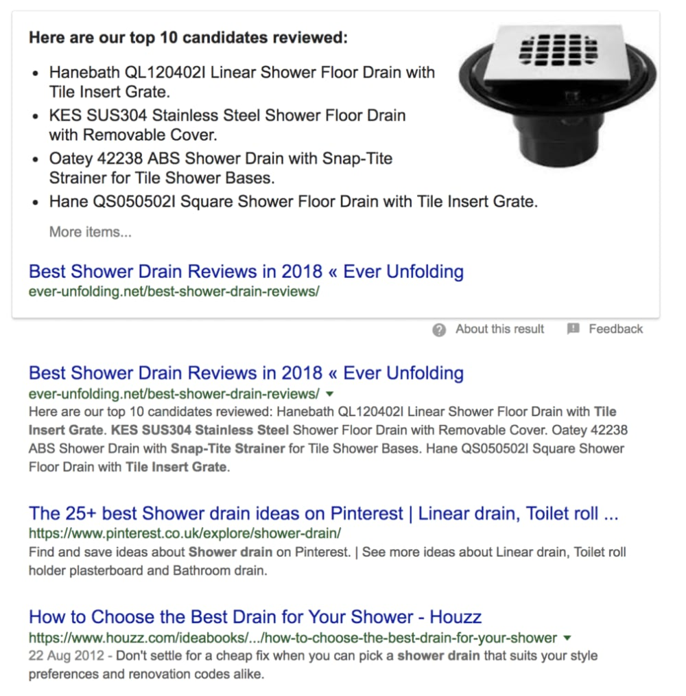 Best shower drains - review results
