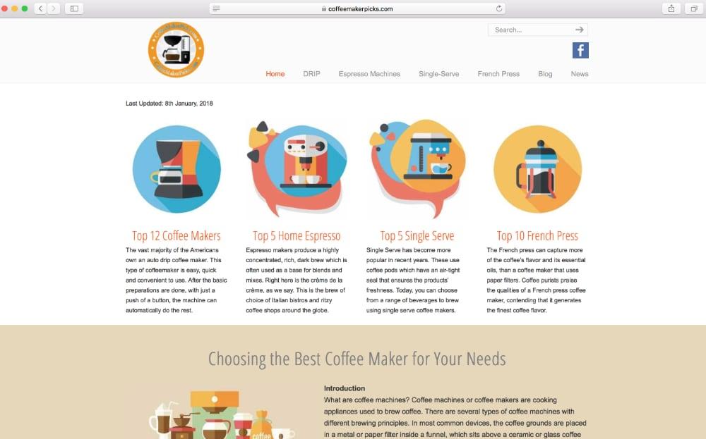 Coffee Maker Picks homepage