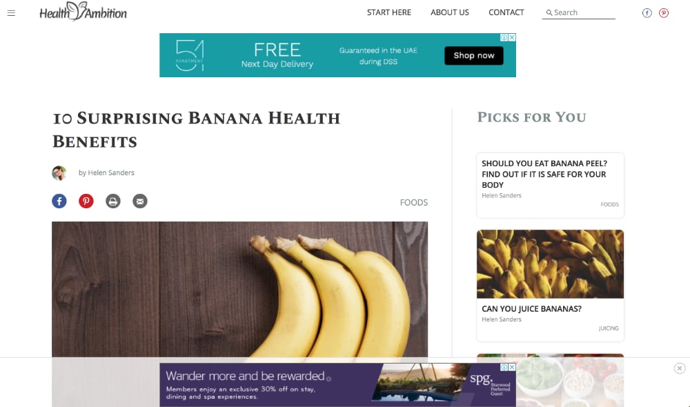 HealthAmbition.com AdThrive monetization