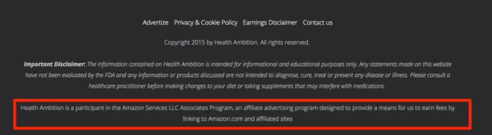 Amazon Associates Disclaimer