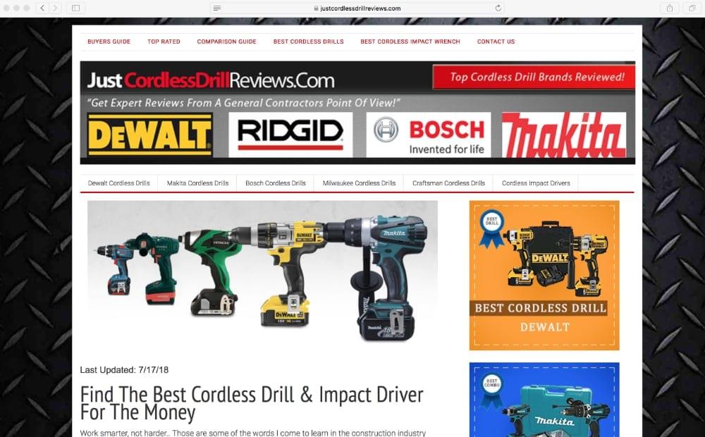Just Cordless Drill Reviews
