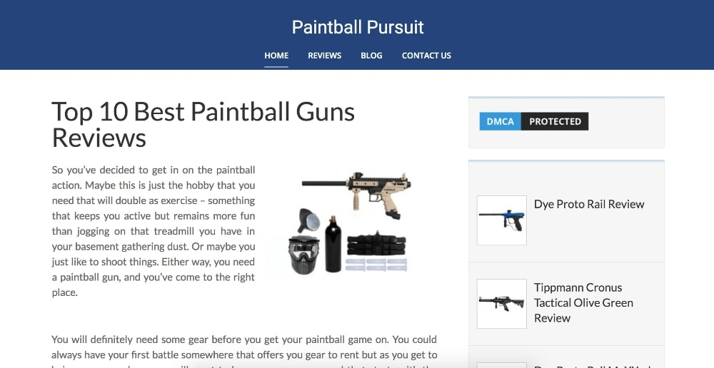 Paintball Pursuit Homepage