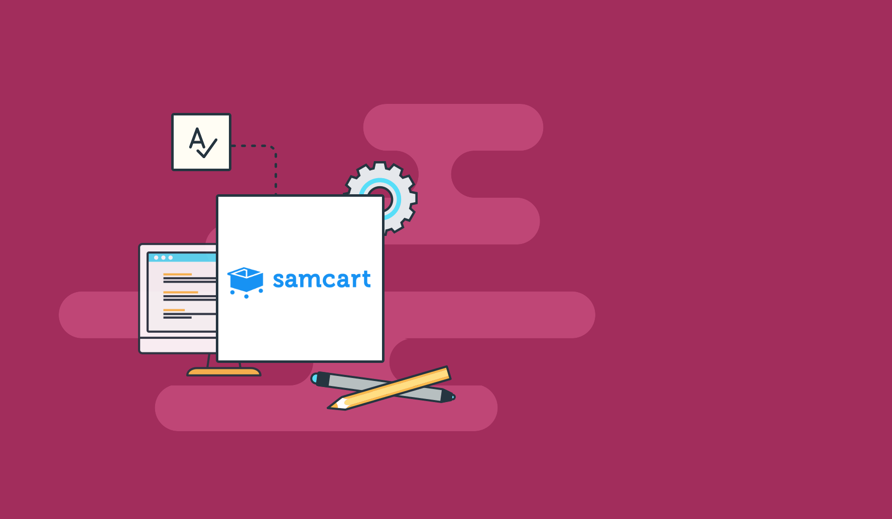 Samcart Landing Page Software  2 Year Warranty