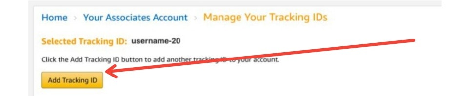 Amazon Add Tracking ID
