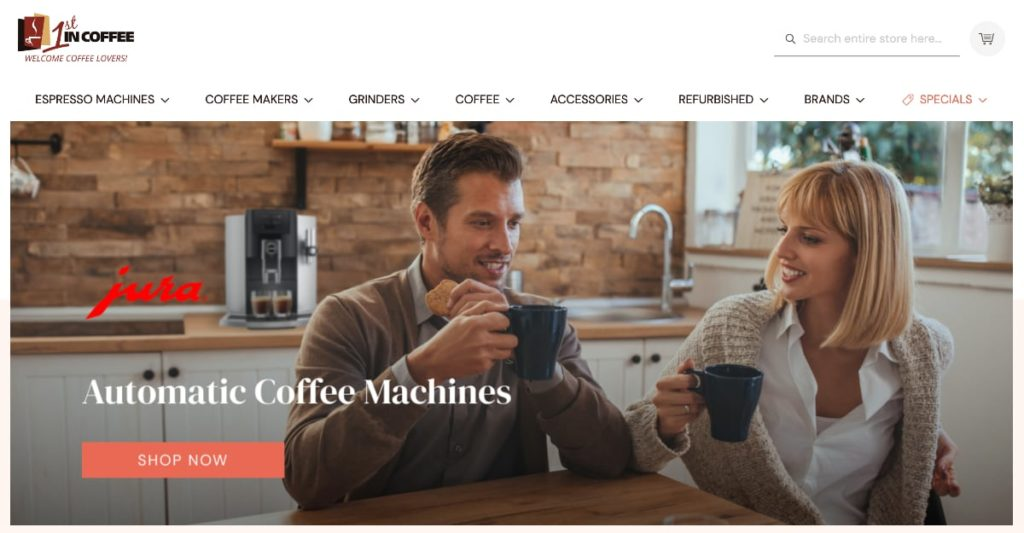 1st In Coffee Homepage