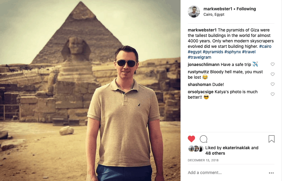 Mark in Egypt