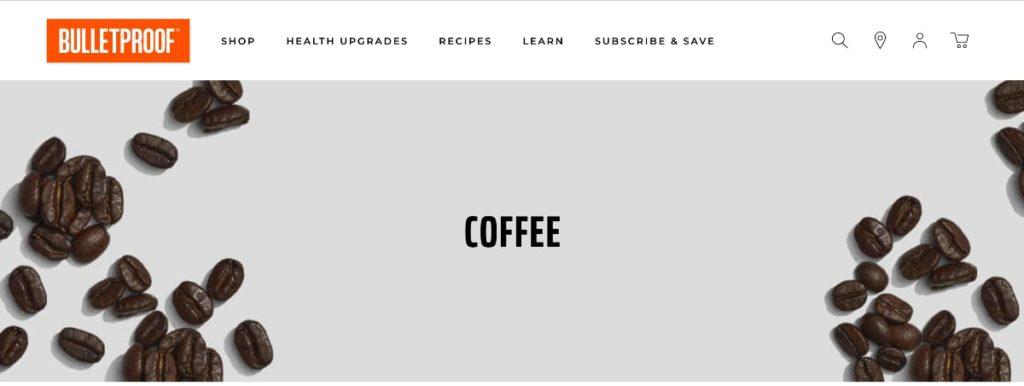 Bulletproof Coffee Homepage