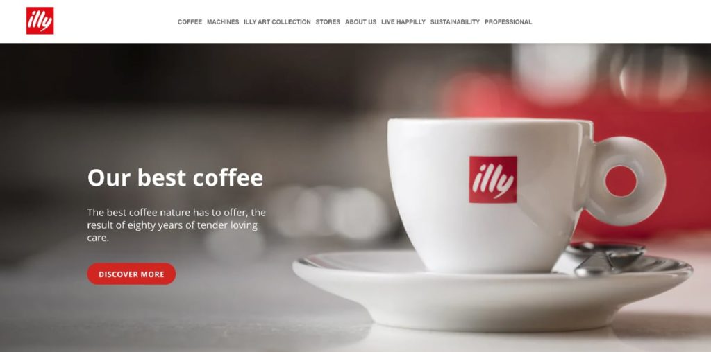 Illy Coffee Homepage