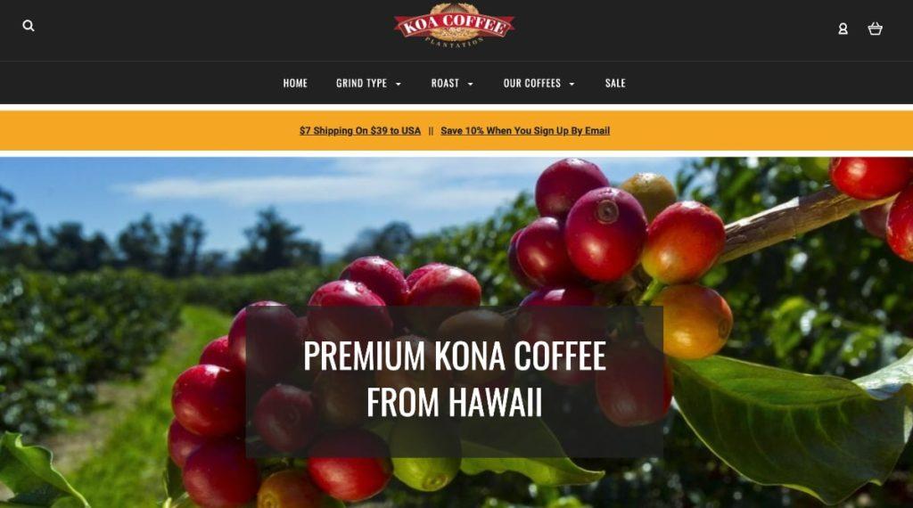 Koa Coffee Homepage
