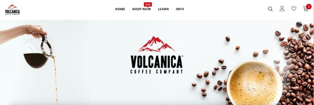 Volcanica Coffee Homepage