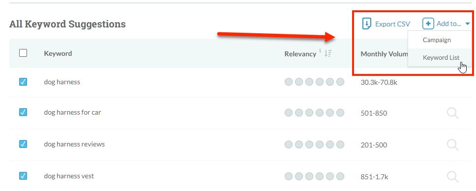 Moz Keyword Filtering