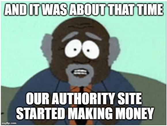 Authority Site Started Making Money
