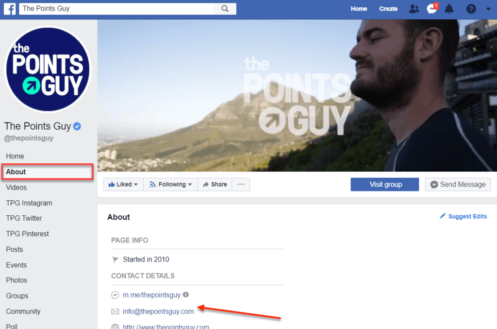 Thepointsguy Facebook Page