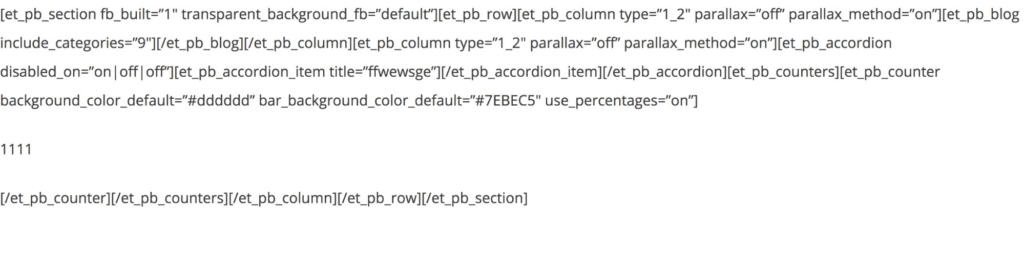 Divi Shortcode Example