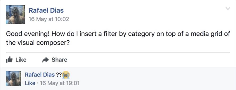 Facebook Question Visual Composer