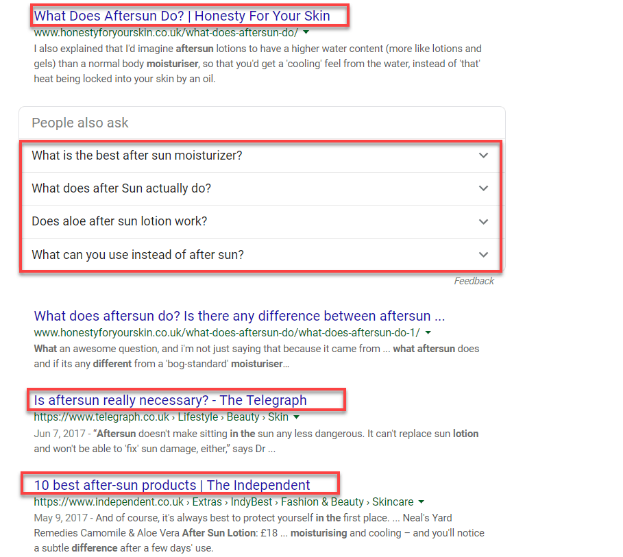 Google Query Serp Results