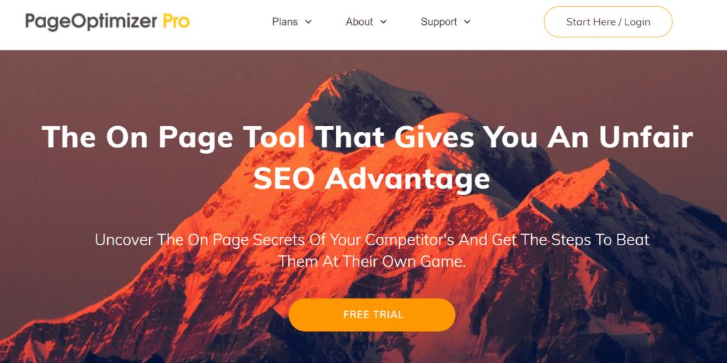 Pagina iniziale di Pageoptimizer Pro