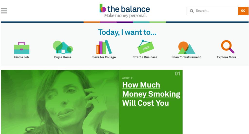 Thebalance Homepage